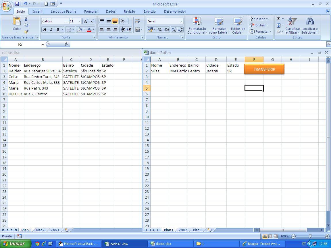 Excel Vba E Project Vba Armazenamento De Dados Em Pastas Utilizando Excel
