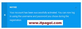 Active your account.