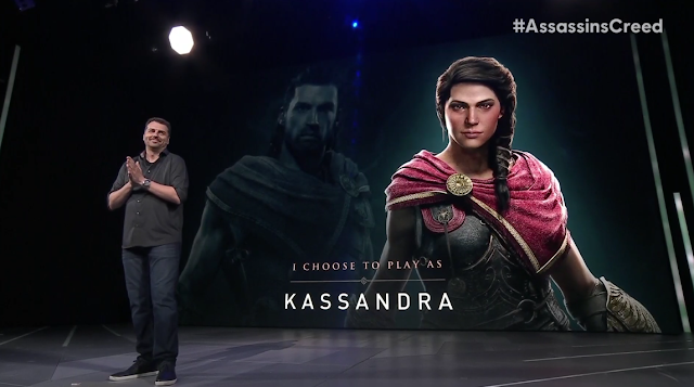 Ubisoft E3 2018 conference Assassin's Creed Odyssey play as Alexios or Kassandra choose gender playable character male female