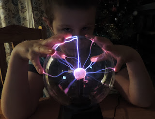 fortune teller with crystal plasma ball