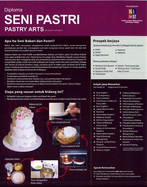 Diploma in Pastry Arts at Cosmopoint Sabah