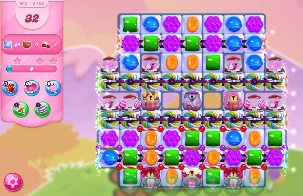 Candy Crush Saga level 6186