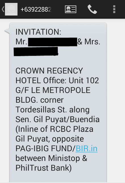 Club Ultima / Crown Regency Hotel Scam
