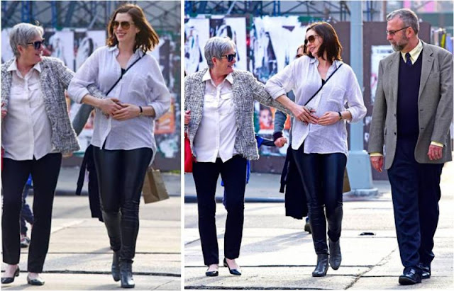 Anne Hathaway Maternity December 2015