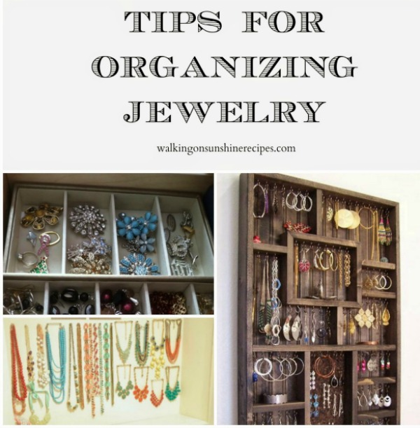 This week's Thursday's Tip is all about organizing jewelry from Walking on Sunshine.