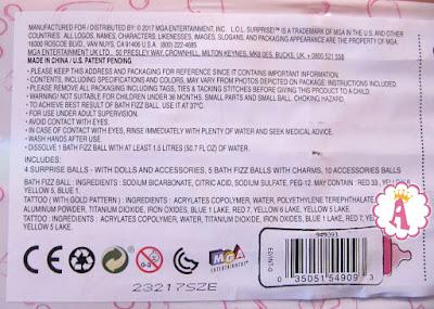 Что написано на упаковке гигантского золотого шарика LOL Big Surprise MGA