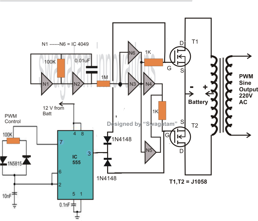 Pure Sine Wave Inverter Circuit Diagram Pdf  Circuit