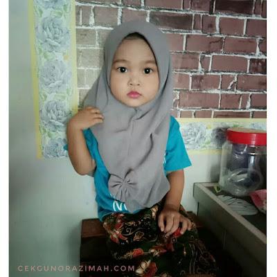 dhia zahra, dhia zahra makeup, kanak-kanak makeup, si kecil makeup