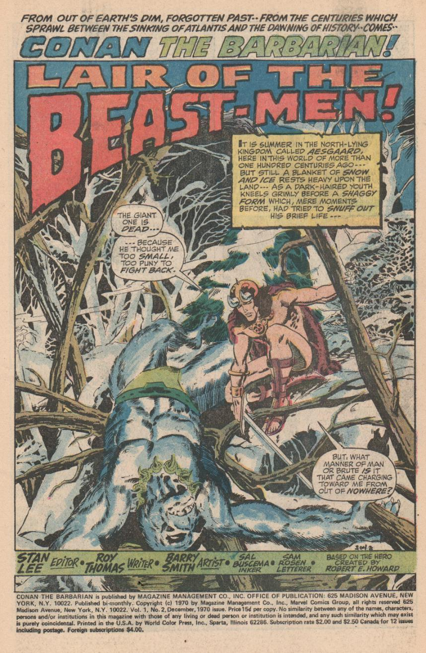 Conan the Barbarian (1970) Issue #2 #14 - English 2