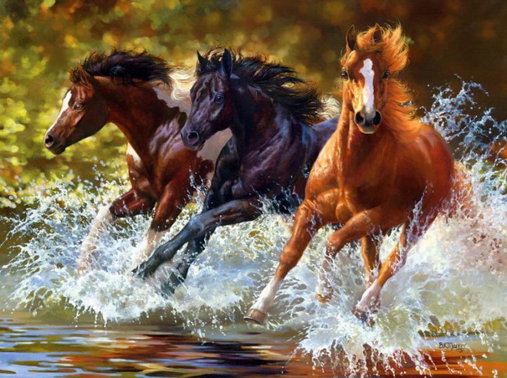 Im genes arte pinturas cuadros de caballos corriendo for Free photo paint