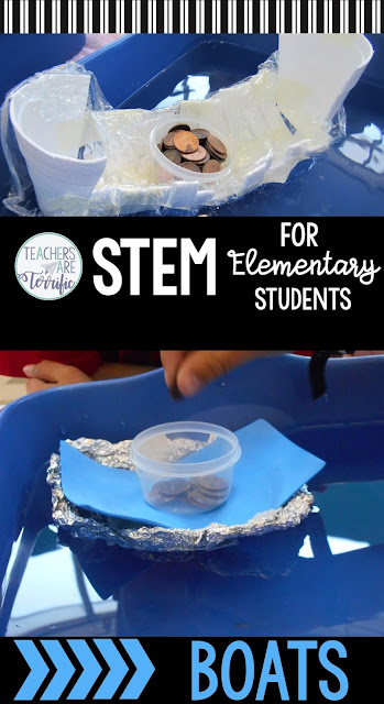 The Build a Boat STEM Challenge is a runaway hit with my students. They cheer when they see Boats on our agenda and your students will too! There is just something about building that boat and holding your breath to see if it will float (it will) and then counting weights into it to see how long it will stay floating.