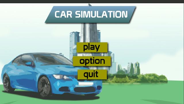 Tampilan depan simulasi mobil