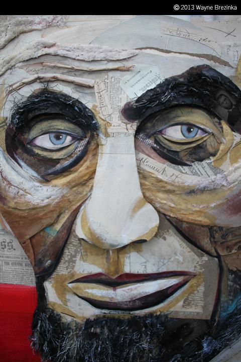 Brezinka Illustration Lincoln Portrait 4 Feet X 5 Feet