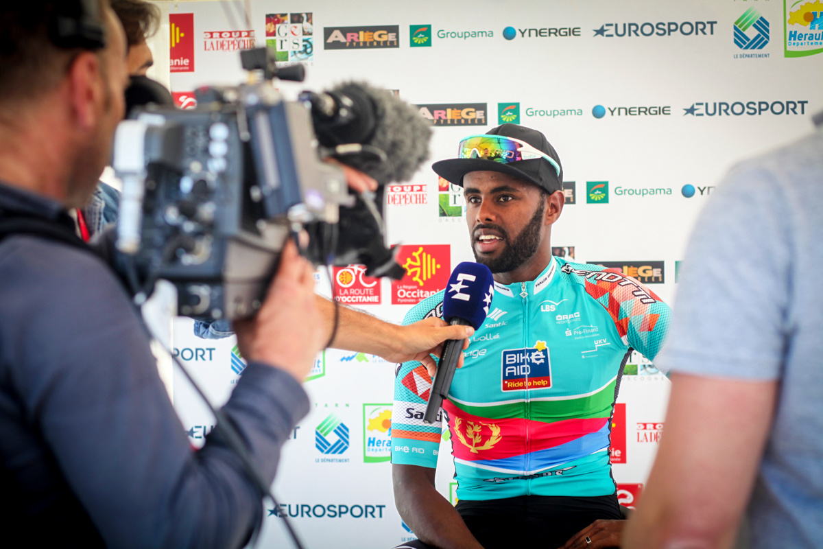 <Meron Abraham wins mountain jersey and sprint jersey at Route d&#039;Occitanie (Route du Sud)