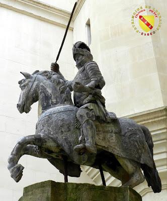 Statue équestre de René II au Musée Lorrain de Nancy  (œuvre en plomb de Nicolas Lépy)