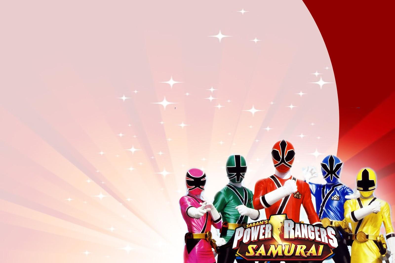 Power Rangers Samurai Montando Minha Festa