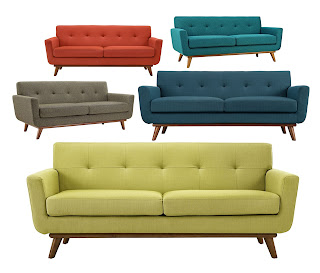 13 affordable mid-century style sofas, ranging from $336 - $790, all online and delivered to your door.