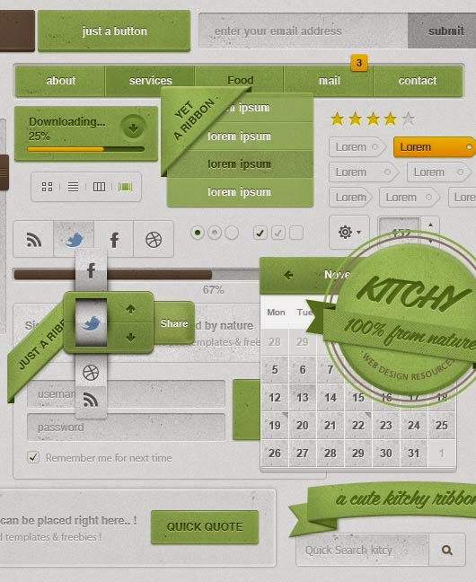 Free Kitchy UI Kit – Restaurant & Food Theme