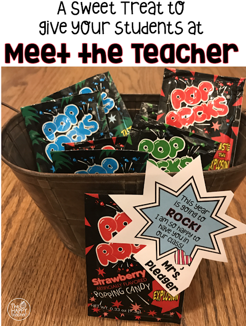 Meet the Teacher Idea: Give students a little treat and tell them how happy you are to have them in your class.