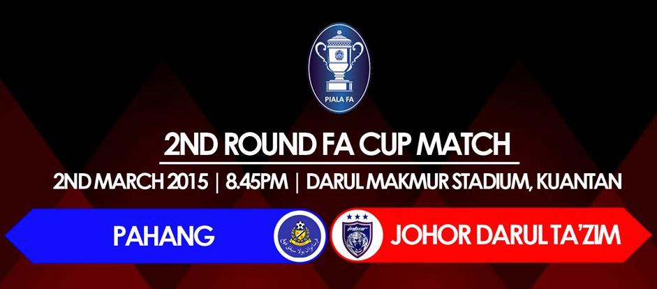 result Pahang Vs JDT 2 Mac 2015 Piala FA