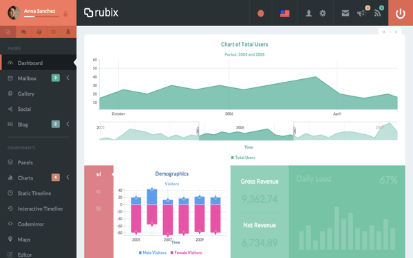 Downlaod Rubix - ReactJS Powered Admin Bootstrap Template