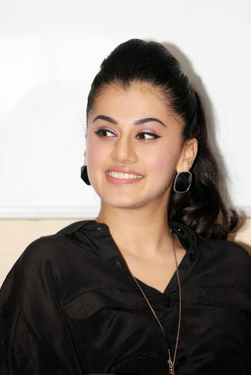 Taapsee Hot Photoshoot In Black Dress
