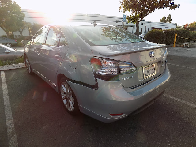 Lexus HS250h prior to collision repairs at Almost Everything Auto Body.