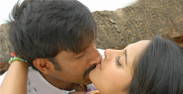 Anushka Shetty lip lock with Gopichand in Lakshayam, Anushka Shetty hot kiss scene