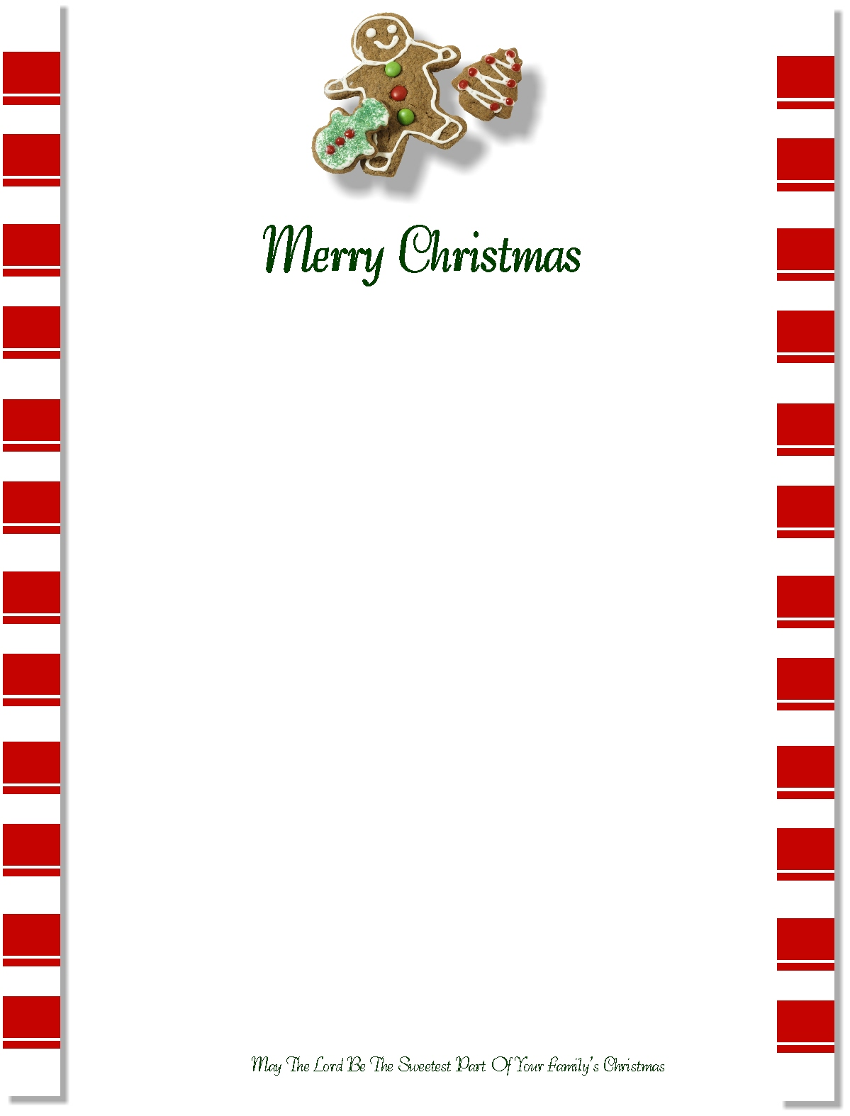 Christian Images In My Treasure Box: Christmas Letterheads ...