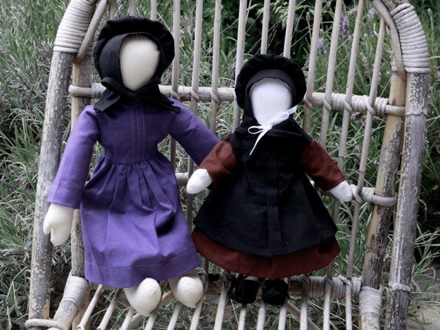 Two Amish dolls