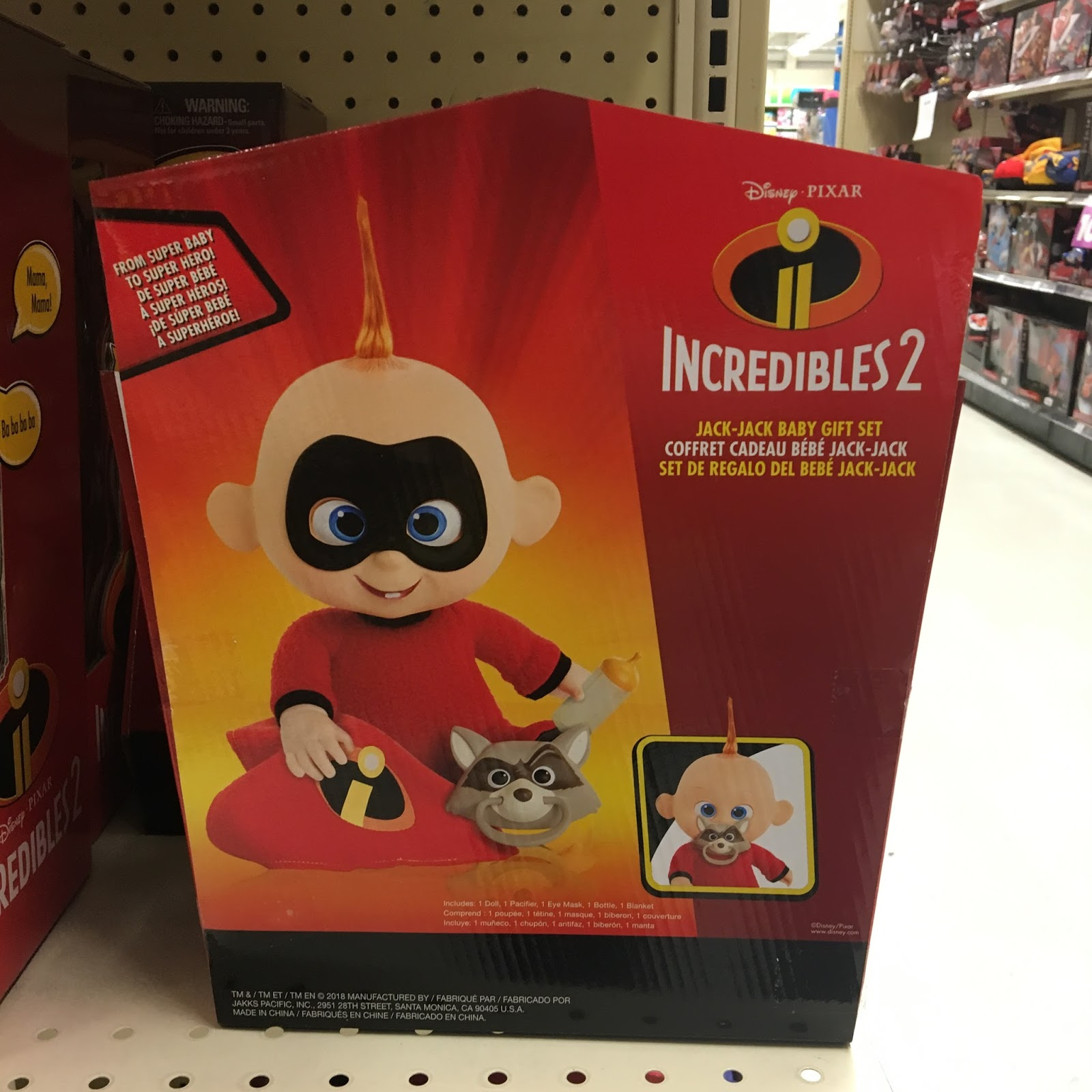incredibles 2 toys jack jack baby gift set