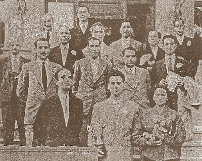 Ajedrecistas del Club Ajedrez Noya en 1955