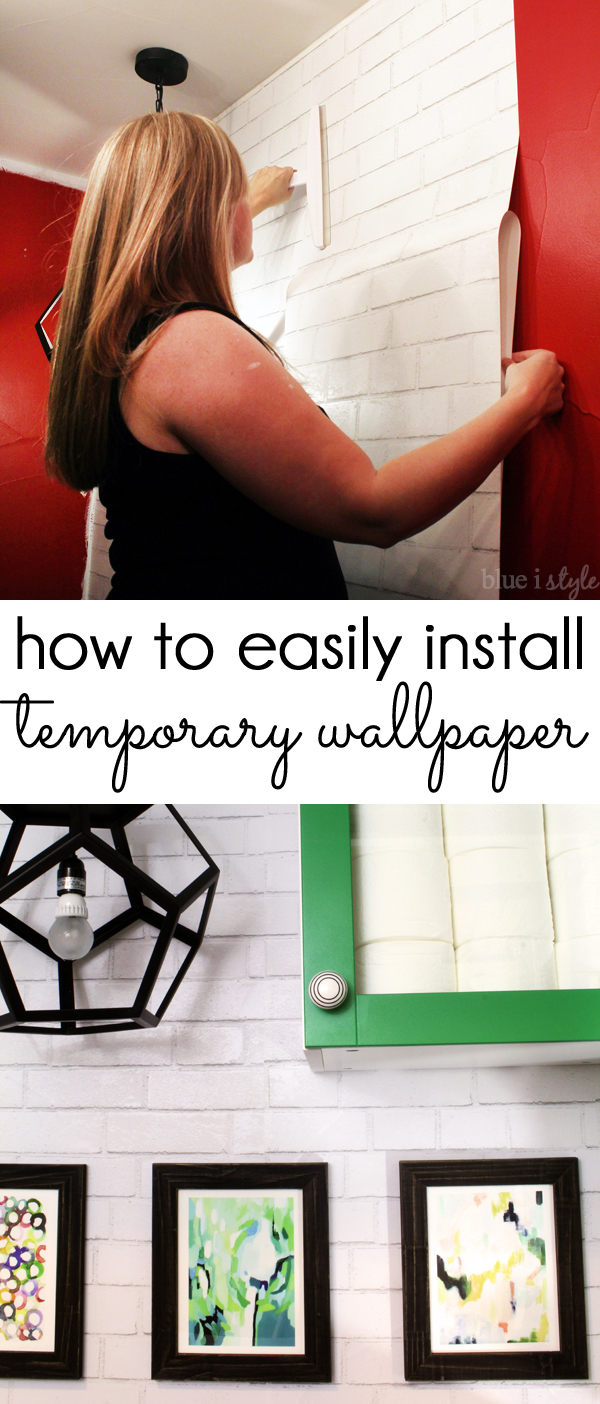 {diy with style} How to Install Temporary, Removable Wallpaper | Blue i Style - Creating an ...