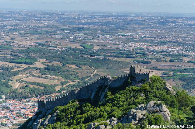 Castillos-de-Portugal, vistas del castillo de los moros
