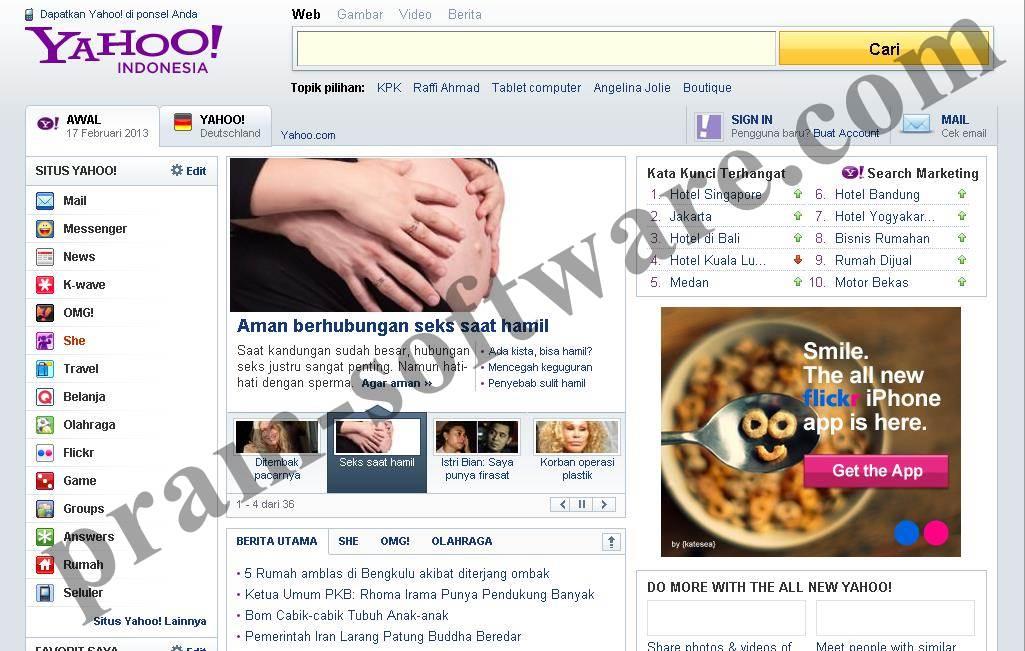 Tampilan Lama Yahoo Indonesia