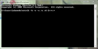 Cara Memunculkan File Hidden dengan CMD