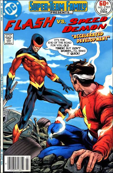 super team family the lost issues the flash vs speed demon
