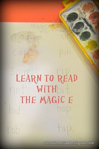 how to teach reading words with the Magic E