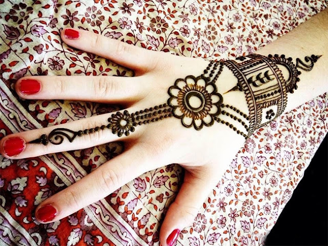 Arabic Mehndi Designs images Simple