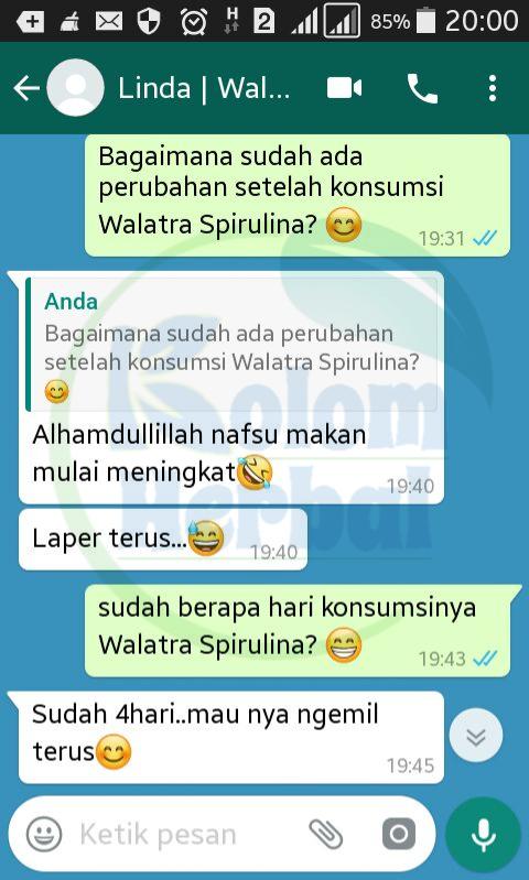 Testimoni Walatra Spirulina G-Plantesis