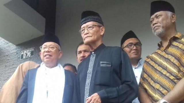 Buya Syafi'i Maarif Titip Islam Berkemajuan ke Kiai Ma'ruf Amin