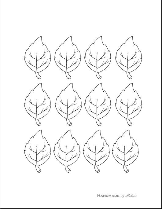 Handmade by Hilani: Thankful Leaves Printable