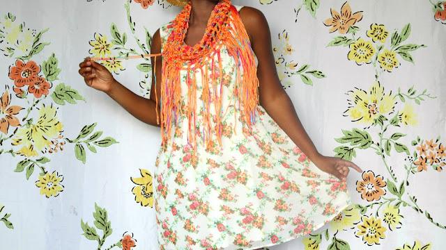 DIY // How To Crochet A Summer Fringe Infinity Scarf! // Free Crochet Pattern!