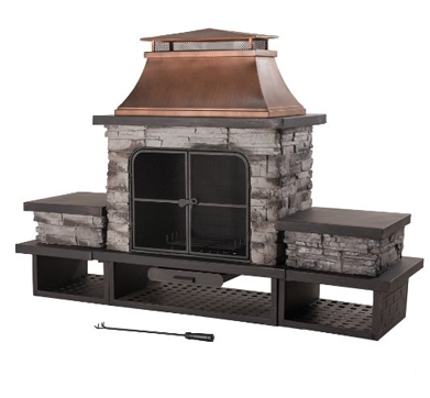 Sunjoy L-OF083PST-2 Stone Fire Place, Outdoor fire Pits, Fire Pits, Fire Pit Columns, Fire Pit Tables,, Decorating Outdoor Space, Outdoor Furniture, Outdoor Space, Outdoor Space Decorating Tips, Patio Furniture,