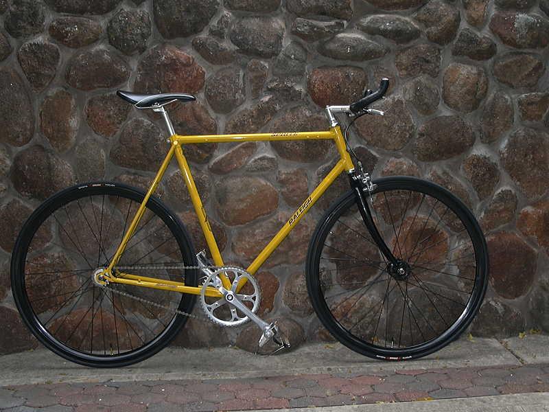 Modifikasi Sepeda Fixie Kuning California Dunia Sepeda