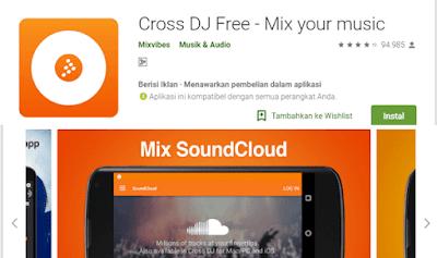 aplikadi DJ gratis dengan fitus dan efek musik yang baik