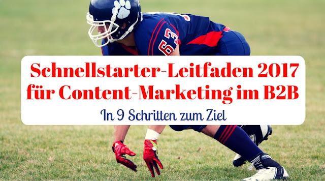 Schnellstarter Leitfaden für Content-Marketing im B2B. In 9 Schritten zum Ziel