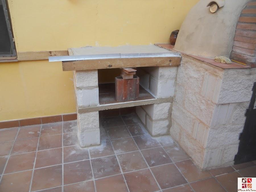 mesa auxiliar para horno de obra