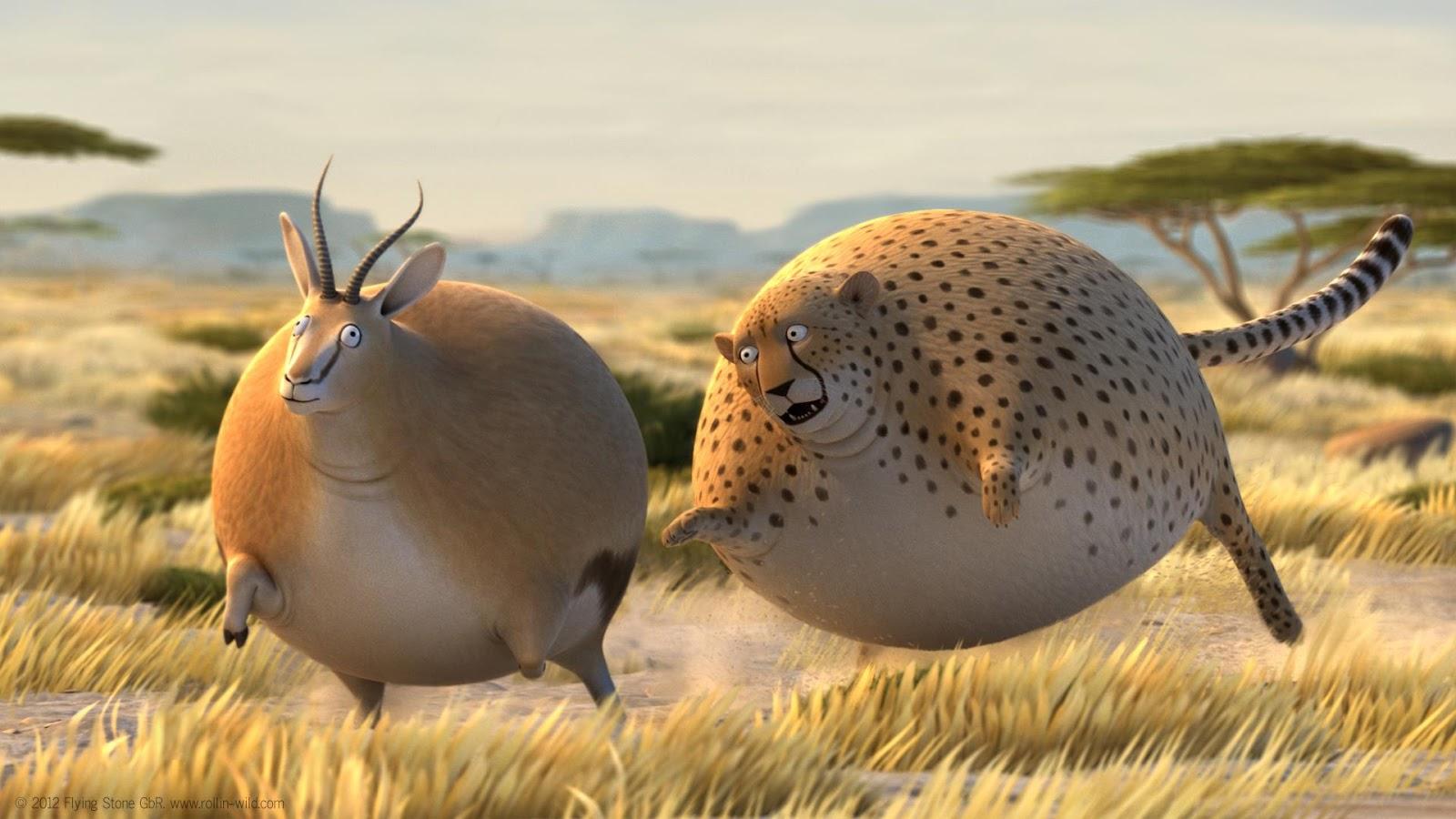 Loper Artikel Rollin Safari Animasi Lucu Hewan Hewan Gendut