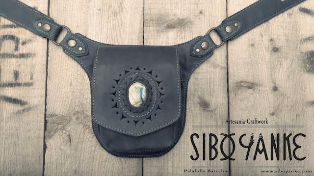 Leather Utility Belt, Hip Belt, Belt Bag, Festival Belt, waist bag, Boho Bag, Gypsy Belt, Boho belt, Nomad, Shop, labradorite
